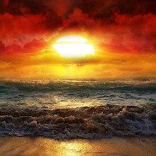 Rough Ocean Sunset