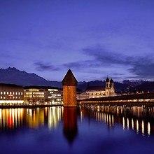 Switzerland Lucerne Dusk