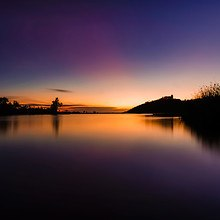 Tranquil Lake At Dusk