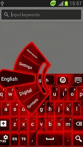 GO Keyboard Neon Red Theme