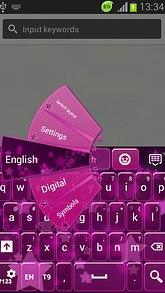 GO Keyboard Pink Stars