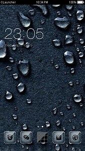 Water Drops C Launcher Theme