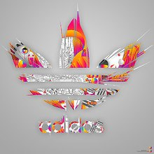 Adidas Colorful Logo