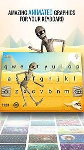 Wave Animated Keyboard + Emoji