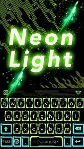 Neon Light Emoji Kika Keyboard