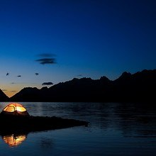 Tent By The Lake