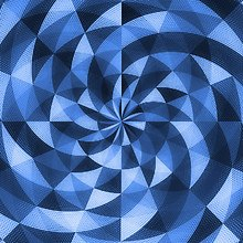 Spiral Mosaic Blue
