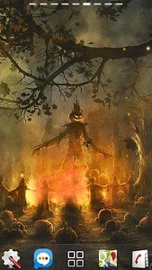 halloween camp fire LWP