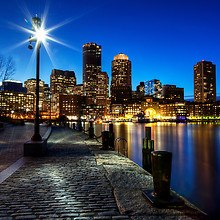 City Of Boston At Dusk