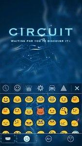 Circuit Theme Emoji Keyboard