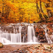 Lovely Autumn Waterfall