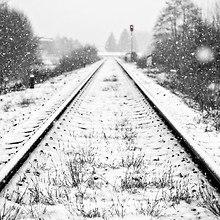 Snow Covered Train Tracks