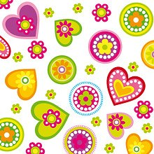 Cute Flowers And Hearts