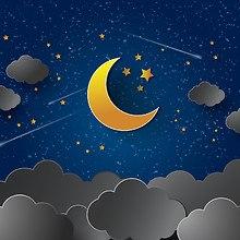 Moon & Clouds Art