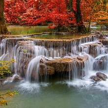 Beautiful Autumn Waterfalls