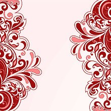 Floral Art Red