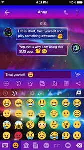 Rainbow Aurora Emoji Keyboard