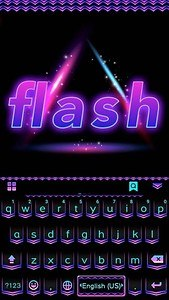 Flash Emoji Kika KeyboardTheme