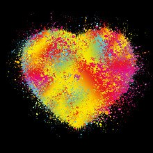 Paint Splatter Heart