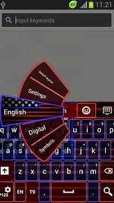 American Keyboard Neon