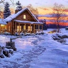 Log Cabin Art