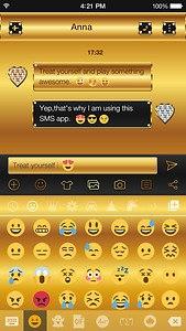 Gold Emoji Keyboard Theme Free