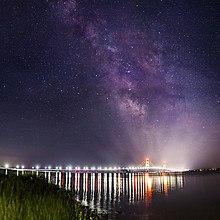 Mackinac Bridge Milky Way