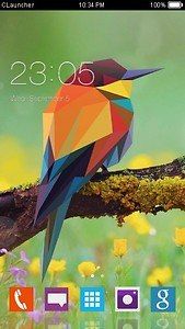 Geometric Bird Clauncher Theme