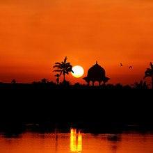 Eastern Sunset Silhouette