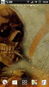 live smoking skull wallpaper