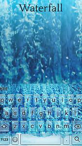 Waterfall Animated Keyboard