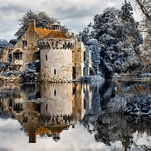 Winter Castle Reflection