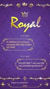 GO SMS PRO ROYAL THEME EX