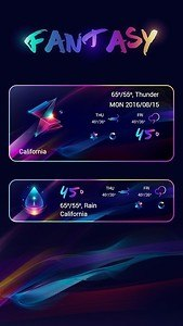 Fantasy Weather Widget Theme