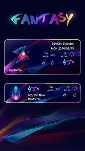 Fantasy Weather Widget Theme