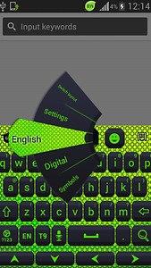 Color Keyboard Neon Green