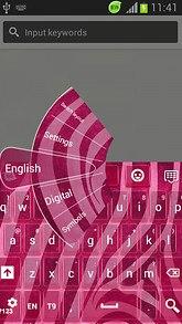 GO Keyboard Pink Zebra