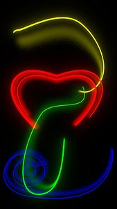 Neon love free live wallpaper