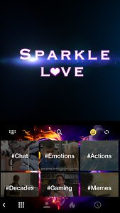 Sparkle Love 💘 Keyboard Theme