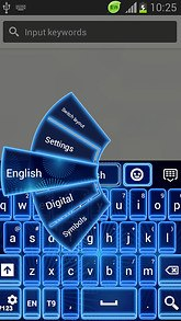 GO Keyboard Neon Blue