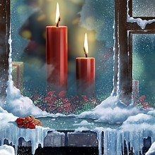 Christmas Candles Art