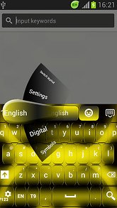 GO Keyboard Neon Yellow