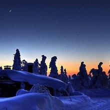 Sweden Snow Sunset