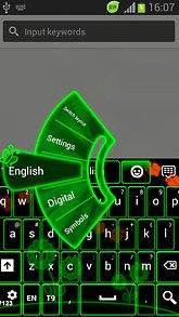 Neon Glow Draw Keyboard
