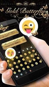 Gold Butterfly Keyboard Theme