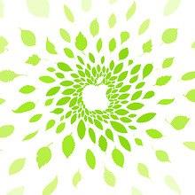 Apple Green Leaves