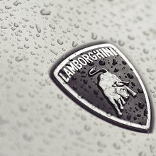 Wet Lamborghini Badge