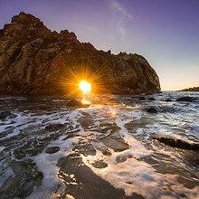 Ocean Sunset Cave