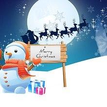 Snowman Santa Art