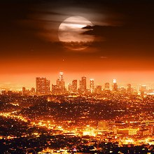 Los Angeles Night Cityscape